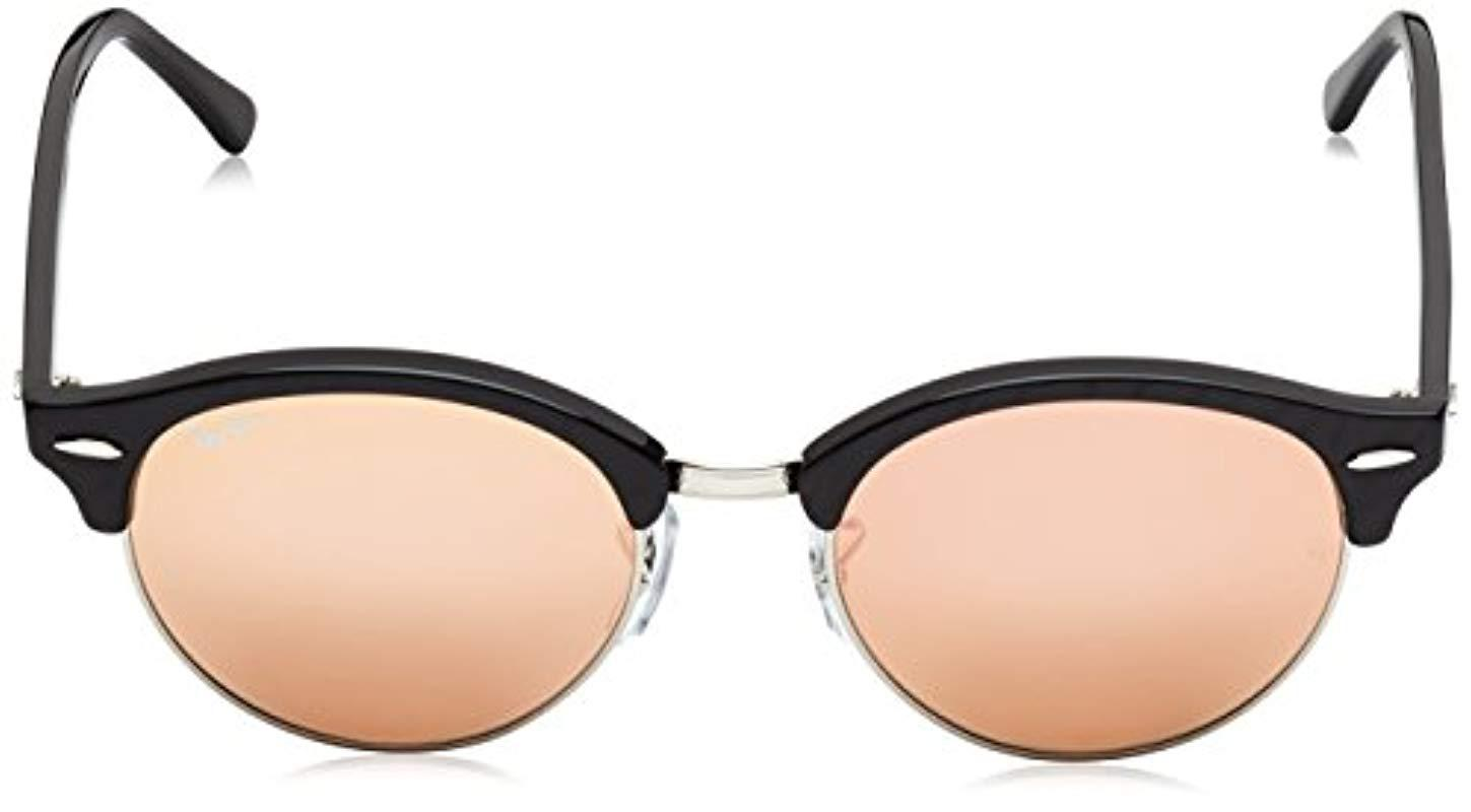 418fc166da1 Ray-Ban - Clubround Rb4246 51 Non Polarized Sunglasses Top Wrinkled Black  Frame  Pink. View fullscreen