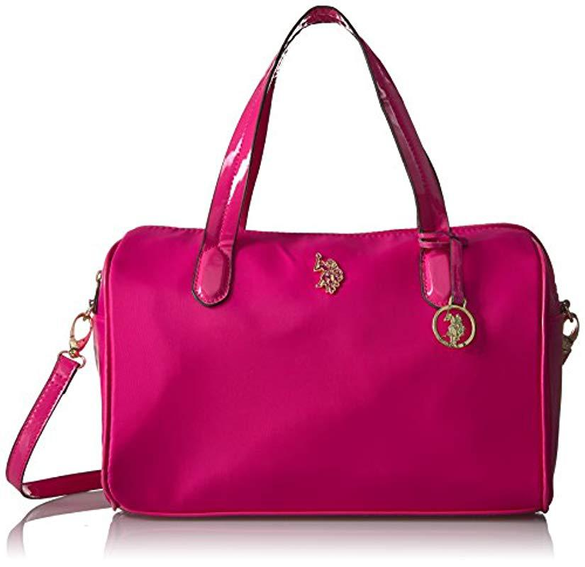 Lyst - U.S. Polo Assn. Us Polo Association Bolton Satchel in Pink ... 1339a38081561