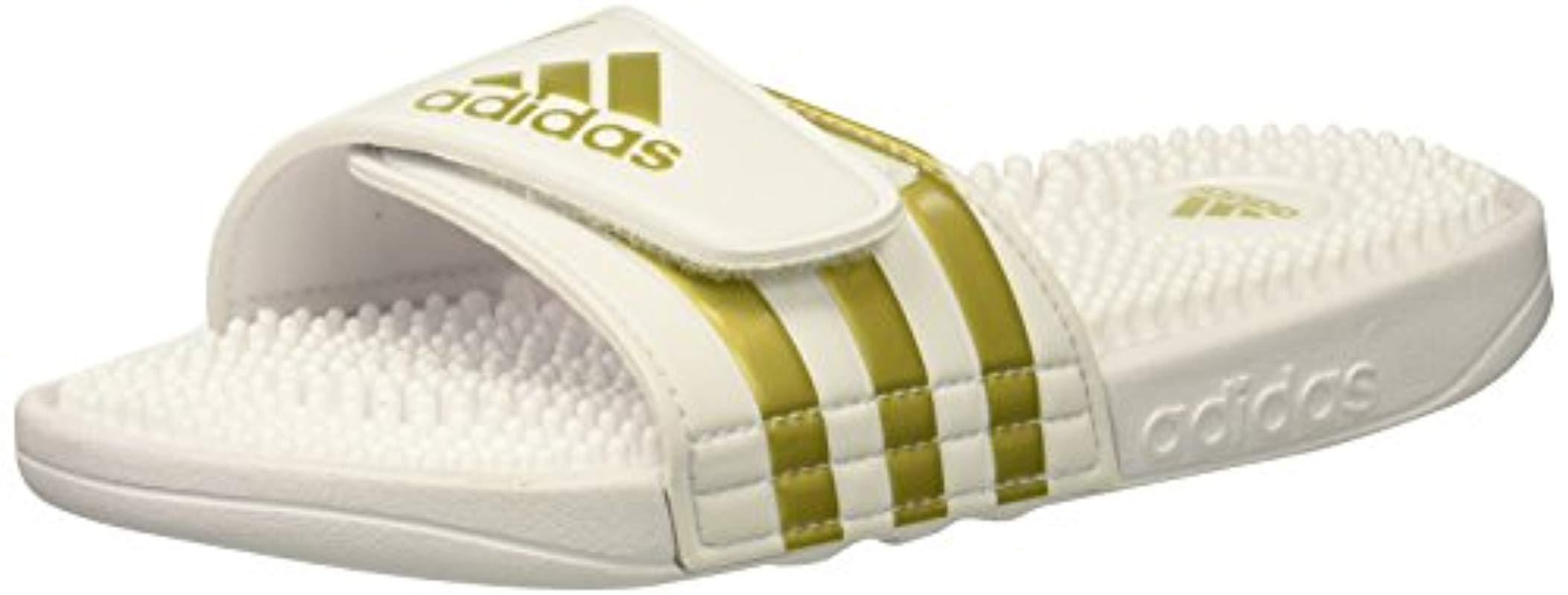 more photos 2538c 149fd adidas. Mens White Adissage Slide Sandal