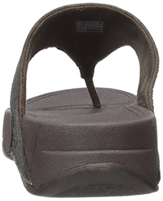 112f0d5993e667 Lyst - Fitflop Electra Classic Sequin Flip-flop Sandal - Save 14%