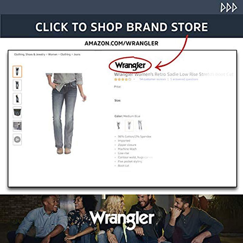ae6af633f58 Wrangler - Blue Size Plus Mid Rise Straight Jean - Lyst. View fullscreen