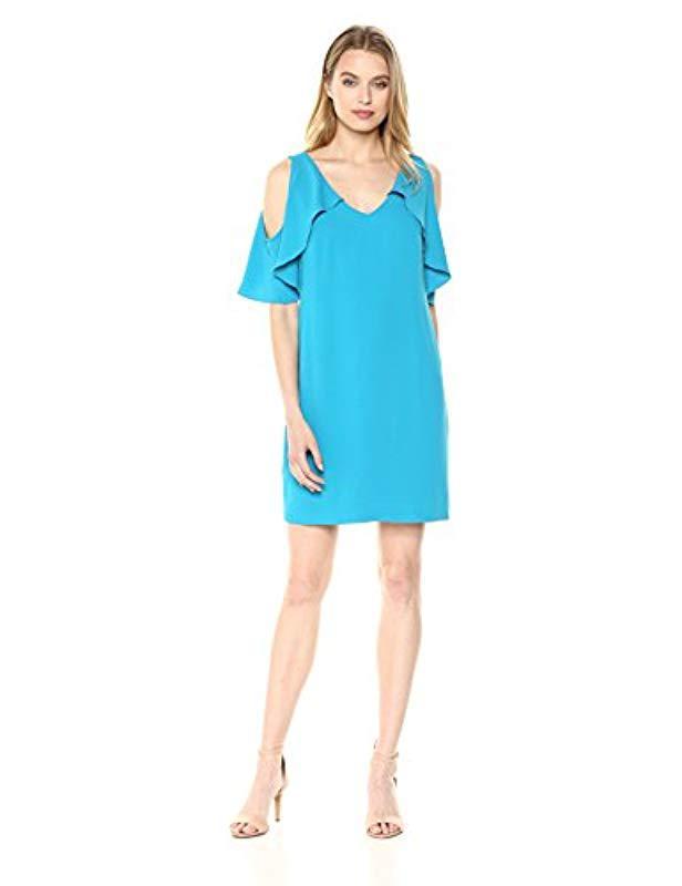 08337a08cb3db Lyst - Trina Turk Trina Kaidence Cold Shoulder Dress in Blue