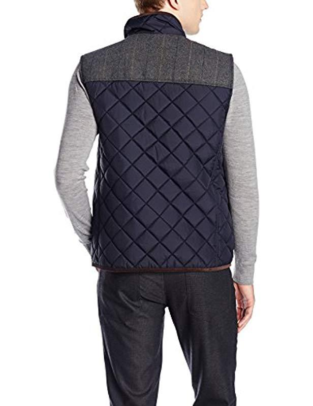 7a6a3949b21d3 Lyst - Vince Camuto Ralph Quilted Vest in Blue for Men