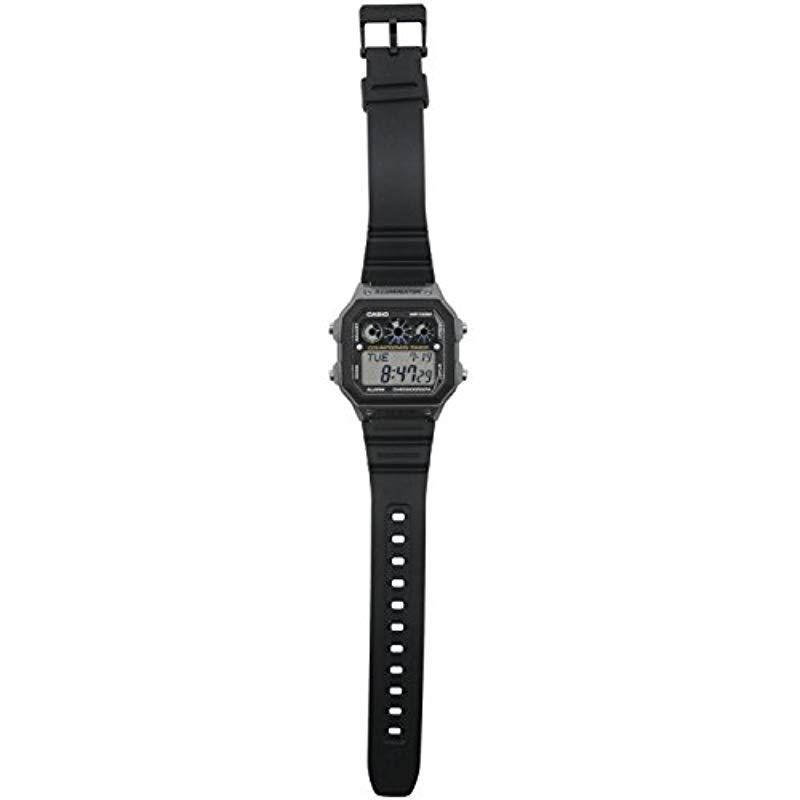7ac9175b3 G-Shock Ae-1300wh-8avcf Illuminator Digital Display Quartz Black Watch in  Black for Men - Save 5% - Lyst