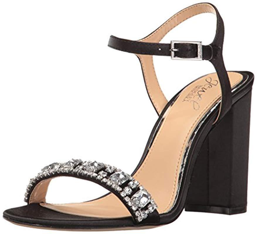 60189381736 Lyst - Badgley Mischka Hendricks Heeled Sandal in Black - Save 18%