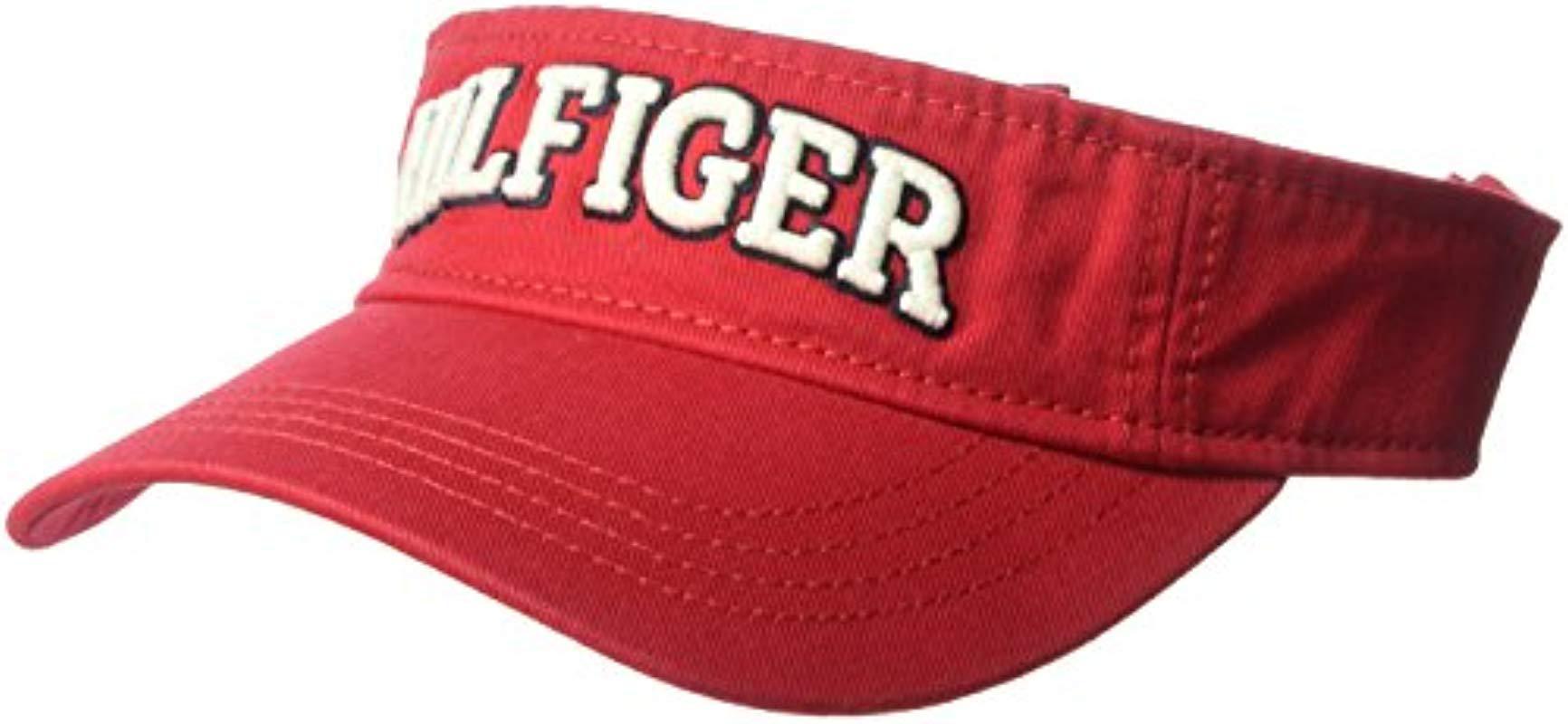 Lyst tommy hilfiger dad hat varsity visor in red for men jpg 1732x800 Tommy  red visor 51e2edad5e61