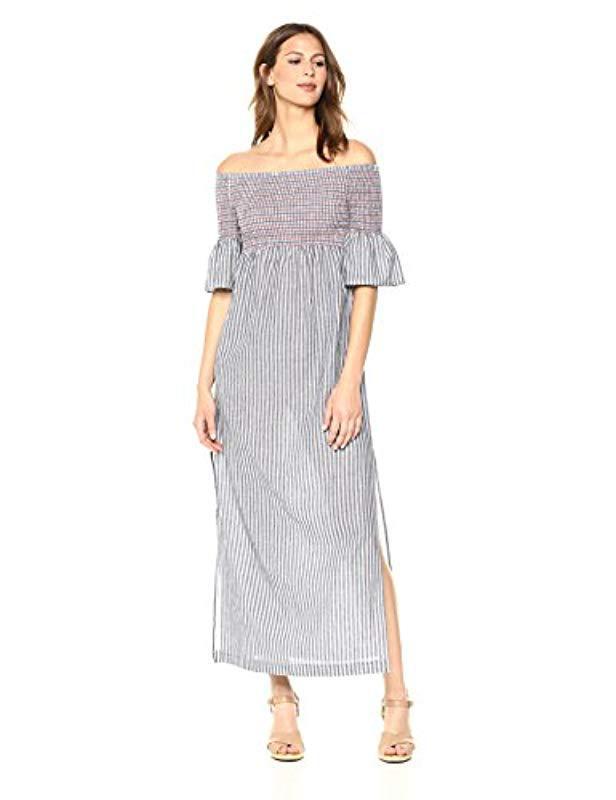 46d4b992c536b Lyst - Trina Turk Trina Carmel Smocked Off The Shoulder Dress - Save 16%