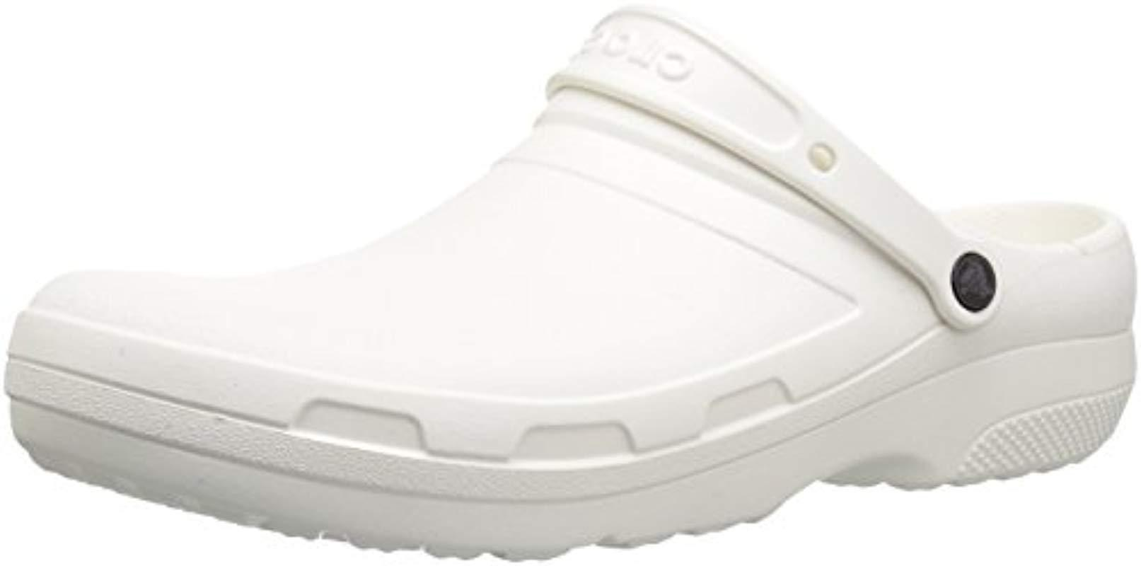 500217cca Crocs™. Women s White And Specialist Ii Clog ...