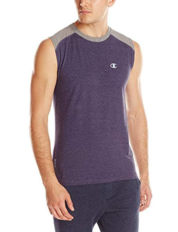 d23019d1a Lyst - Champion Double Dry Cotton Muscle T-shirt in Blue for Men ...