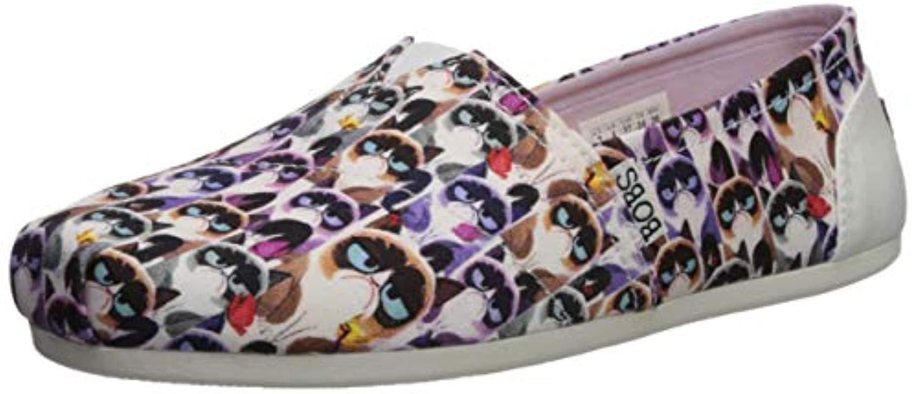 c2c81a6f86e Skechers. Women s Bobs Bobs Plush-grumpy Cat Slip On Ballet Flat