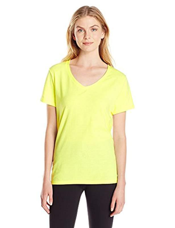 c5ca34c502c5 Lyst - Hanes X-temp V-neck Tee in Yellow