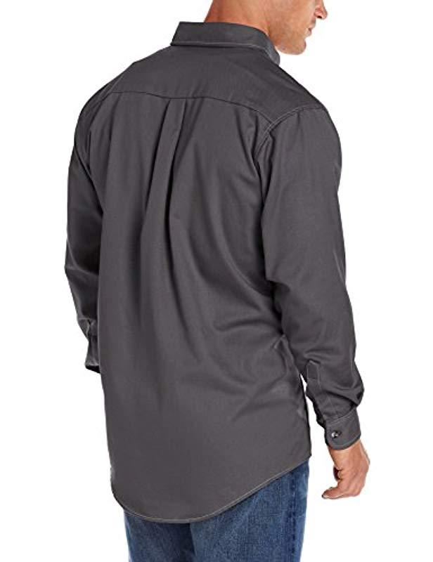 c375533c Lyst - Wrangler RIGGS Workwear 's Fr Flame Resistant Long Sleeve Two Pocket Work  Shirt in Gray for Men - Save 13%