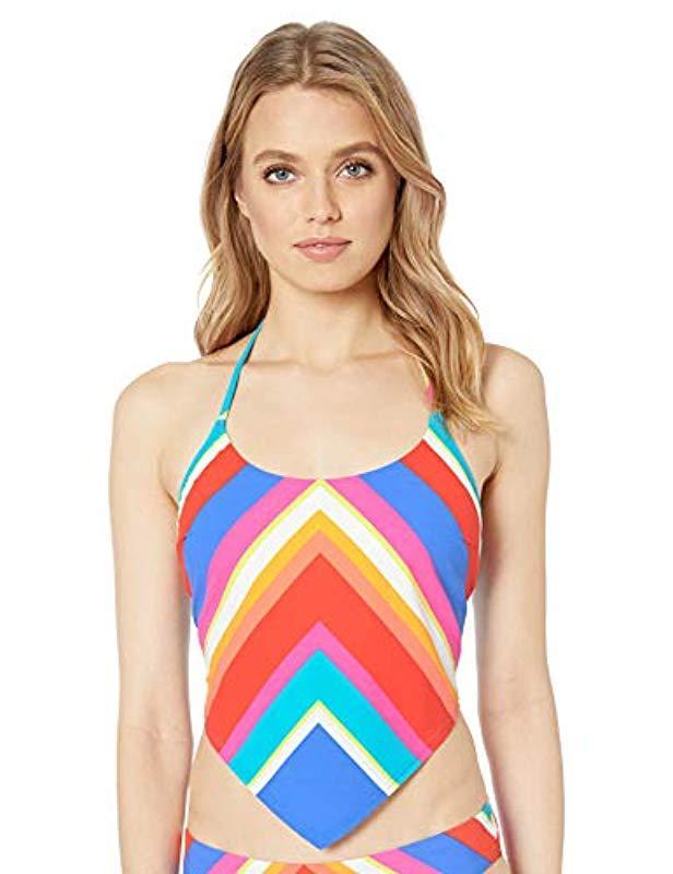 88b9924574aaa Trina Turk. Women's Halter Handkerchief Tankini Swimsuit Top