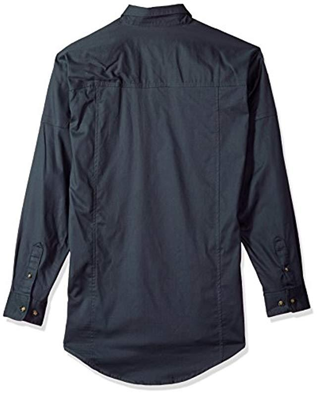 9bda484a8fa Lyst - Wrangler Riggs Workwear Work Shirt in Blue for Men