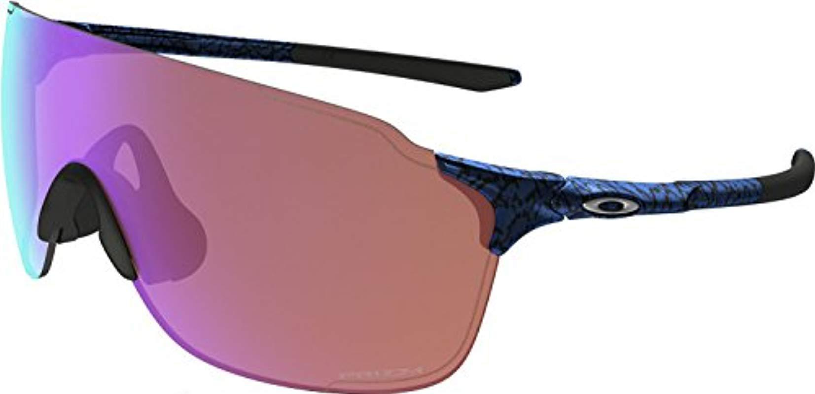6e9431070a Oakley. Men s Blue Evzero Stride (a) Non-polarized Iridium Rectangular  Sunglasses