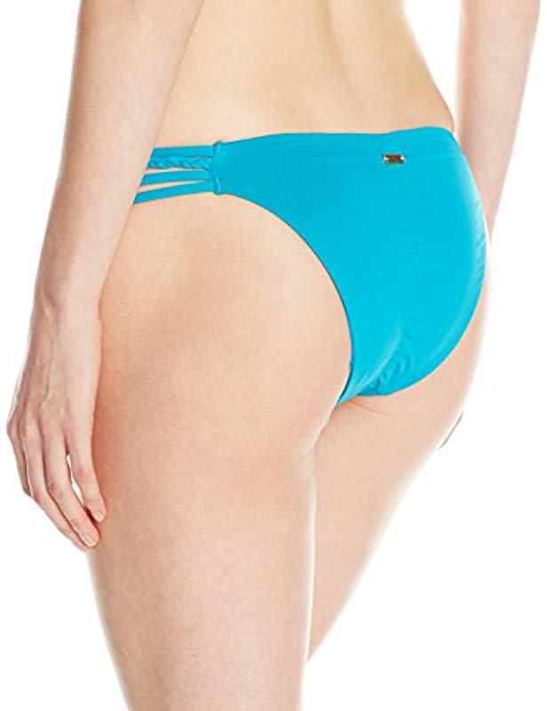 00c3643077c0 Lyst - Roxy Sunset Paradise Heart Bikini Bottom in Blue - Save 8%