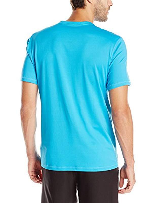 Men's Clothing Quiksilver Mens Solid Streak Long Sleeve Rashguard Ocean Blue Activewear Tops