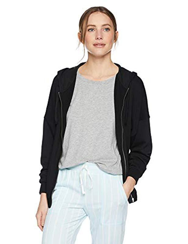 6ea79f5e6d Lyst - Calvin Klein Tonal Logo Lounge Full Zip Hoodie in Black