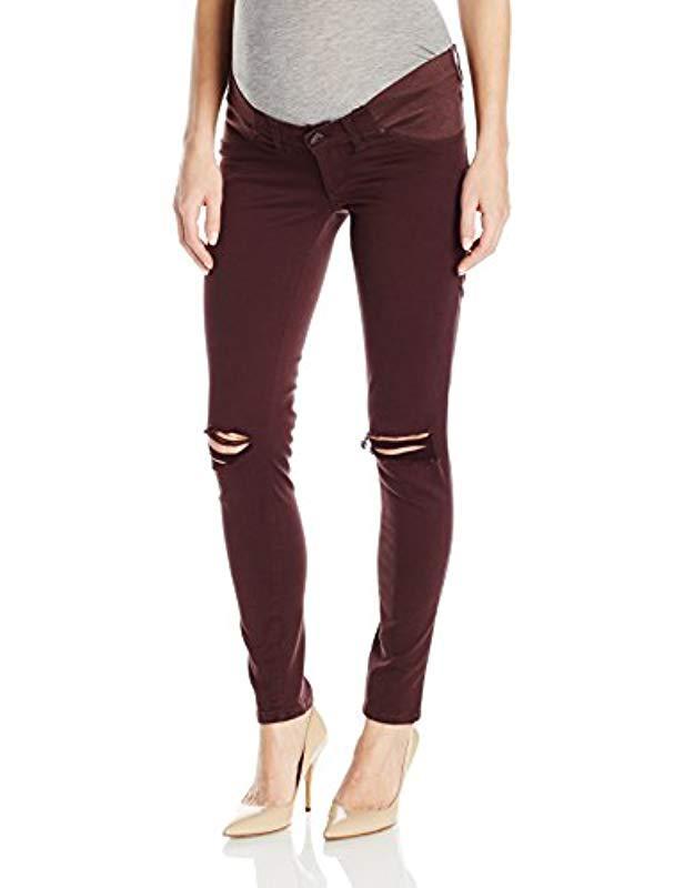 727cb53b2515b Lyst - DL1961 Plus Size Maternity Emma Power Legging Jeans In Reed ...