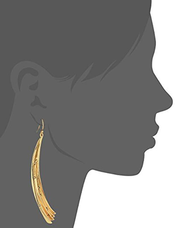 Lyst - Alexis Bittar Crystal Studded Pleated Arc Wire Drop Earrings ...