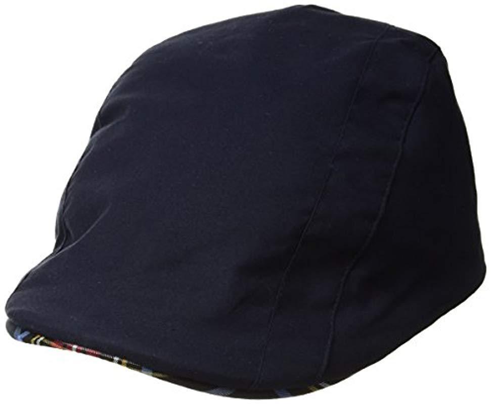 pretty nice c5f76 01e96 Kangol. Men s Blue Placket Adjustable Ivy Cap With Tartan Lining And Trim