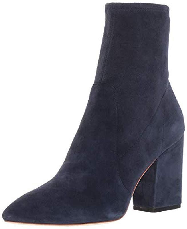 c8f8e0f8ac8a Lyst - Loeffler Randall Isla Slim Ankle Bootie With Chunky Heel in Blue