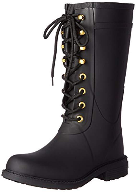 5d341aaf6cc003 Lyst - Sam Edelman Kay Rain Boot in Black