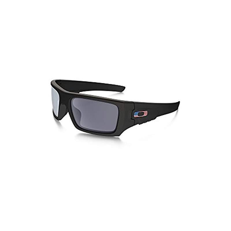 975c1853bb Lyst - Oakley Det Cord Sunglasses   Matte Black   Usa Flag (oo9253 ...