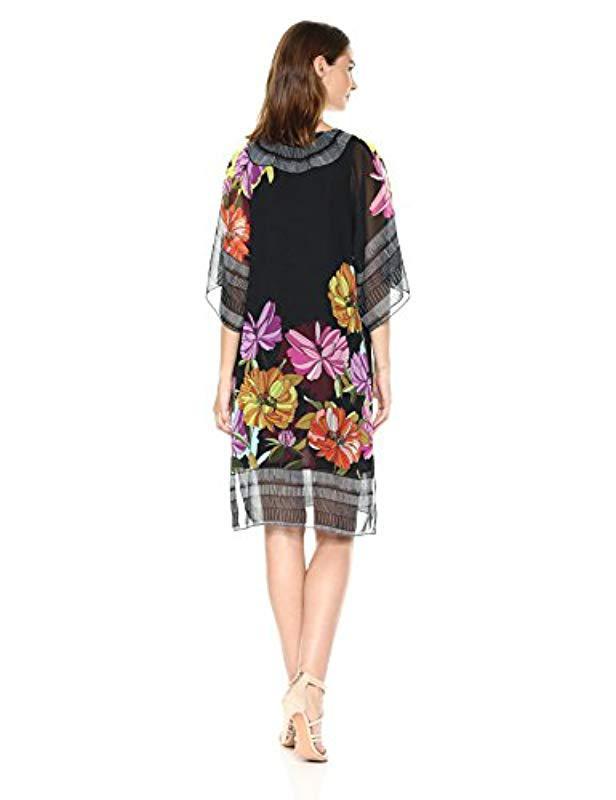 8b19e688fa6 Lyst - Trina Turk Joceline Floral Ikat Dress