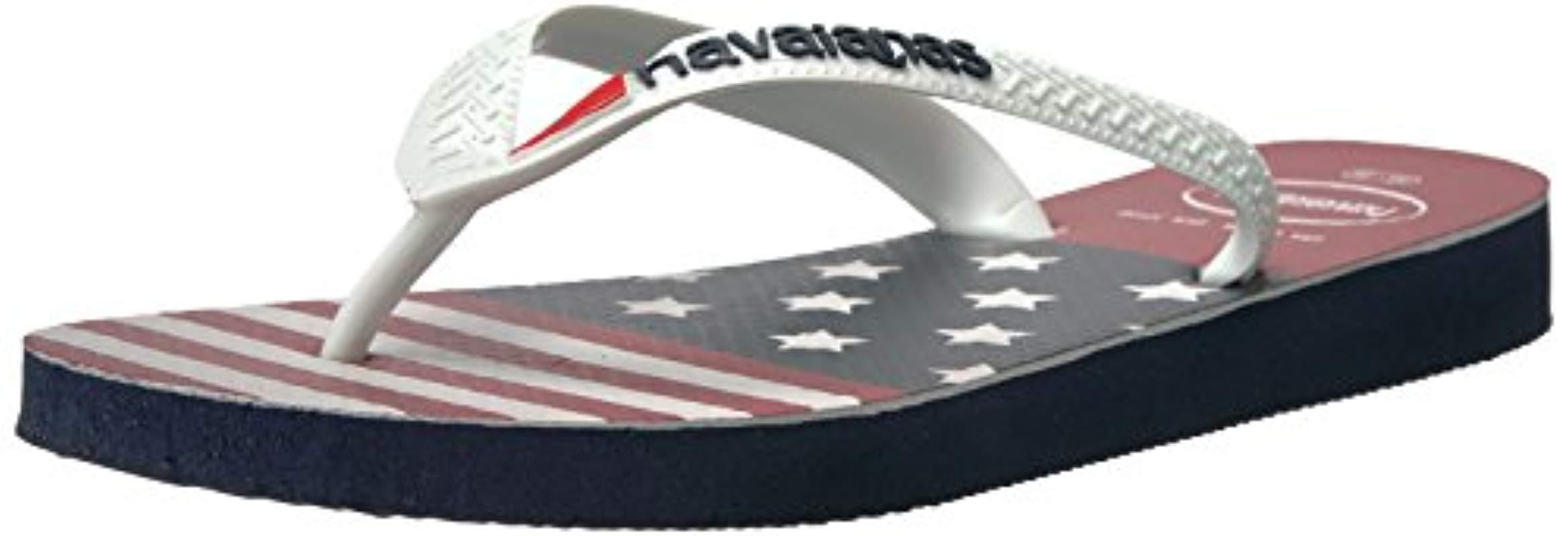 42a333386b6 Lyst - Havaianas Top Usa Stars And Stripes Sandal in Blue