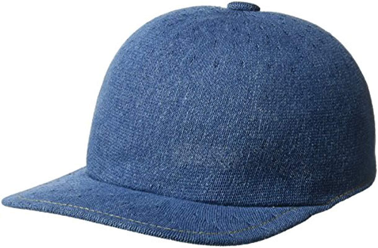 56d81747066 Lyst - Kangol Indigo Adjustable Spacecap Baseball Cap in Blue for ...