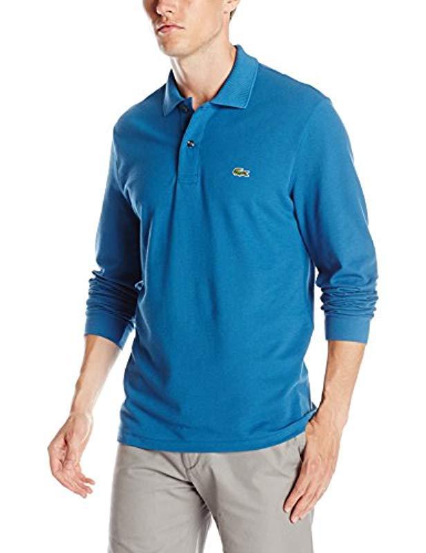 d1b92b8dc Lacoste. Men s Blue Short Sleeve Pique Classic Fit Polo Shirt ...