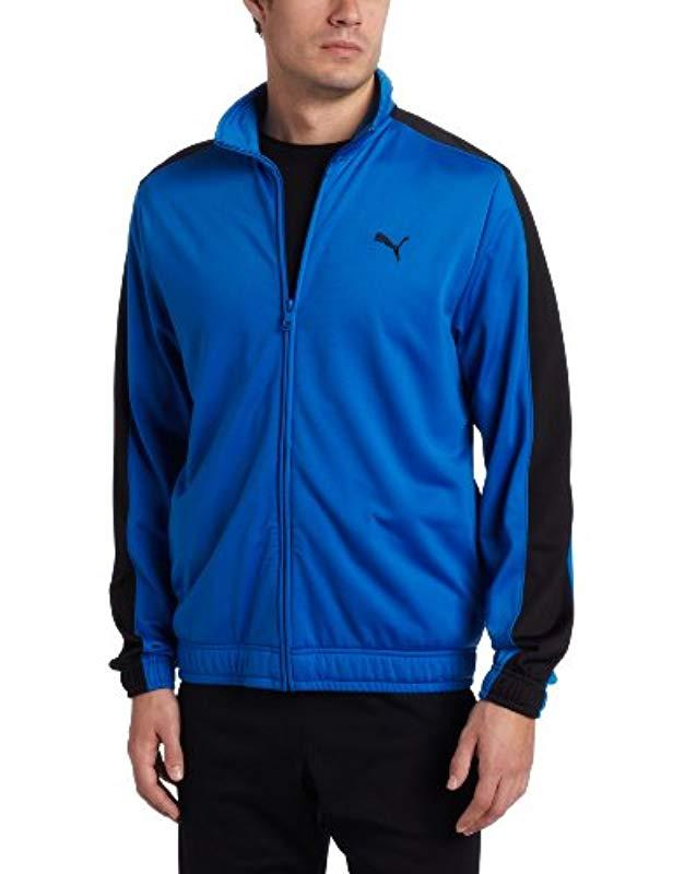 0d1cf388 Lyst - PUMA Knitted Tricot Jacket in Blue for Men