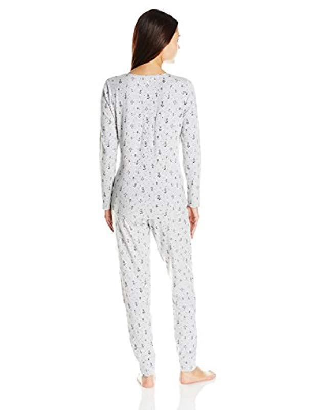 ad64368269 Lyst - Jockey Printed Cotton Spandex Pajama Set - Save 26%