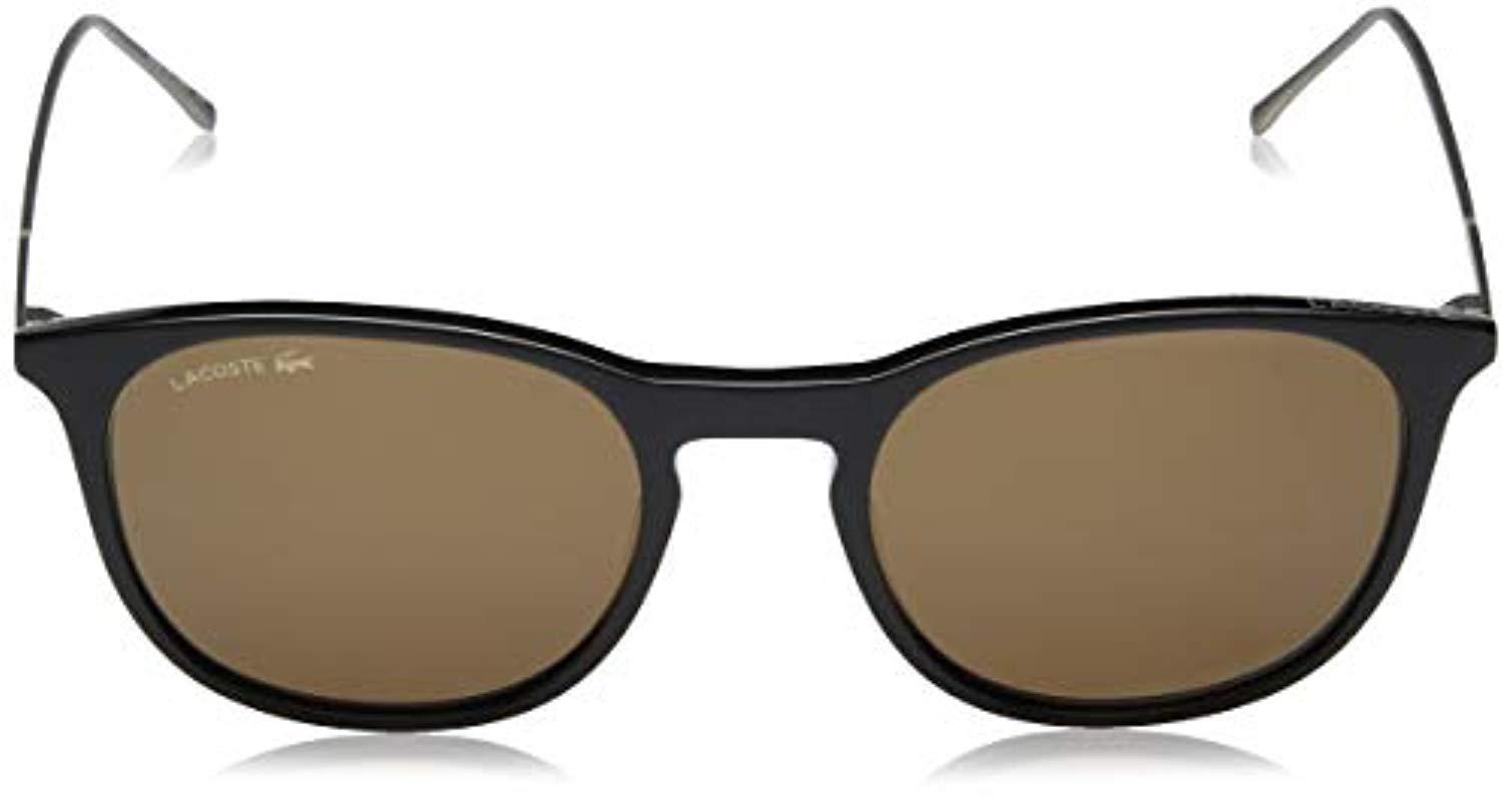 295df53a0b5 Lacoste - Gray L879s Oval Sunglasses Dark Grey 52 Mm for Men - Lyst. View  fullscreen