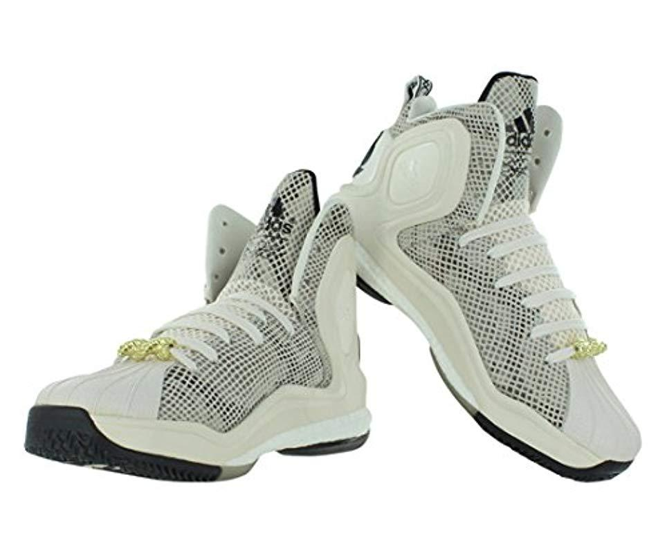 best loved 24955 035a7 Adidas - White Performance D Rose 5 Boost Basketball Shoe for Men - Lyst.  View fullscreen