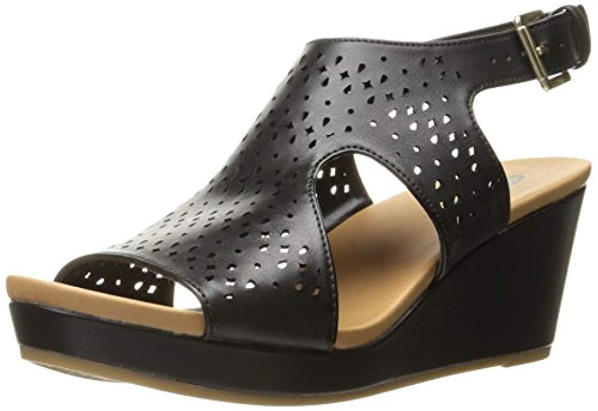 c0879ee788fc Lyst - Dr. Scholls Dr. Scholl s Barely Wedge Sandal in Black - Save 20%