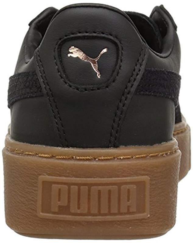new style e4f2c df8ea Lyst - PUMA Basket Platform Euphoria Gum Trainers in Black - Save 61%