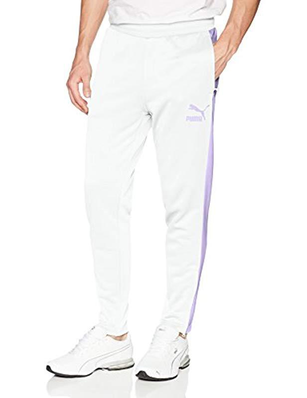 1b6d40b5c1c2 Lyst - PUMA Archive T7 Track Pants in White for Men