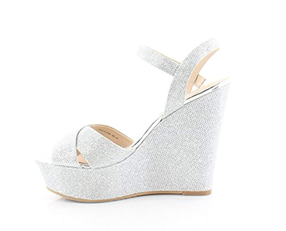 98ae7335aec Lyst - Nina Jinjer Wedge Sandal in White