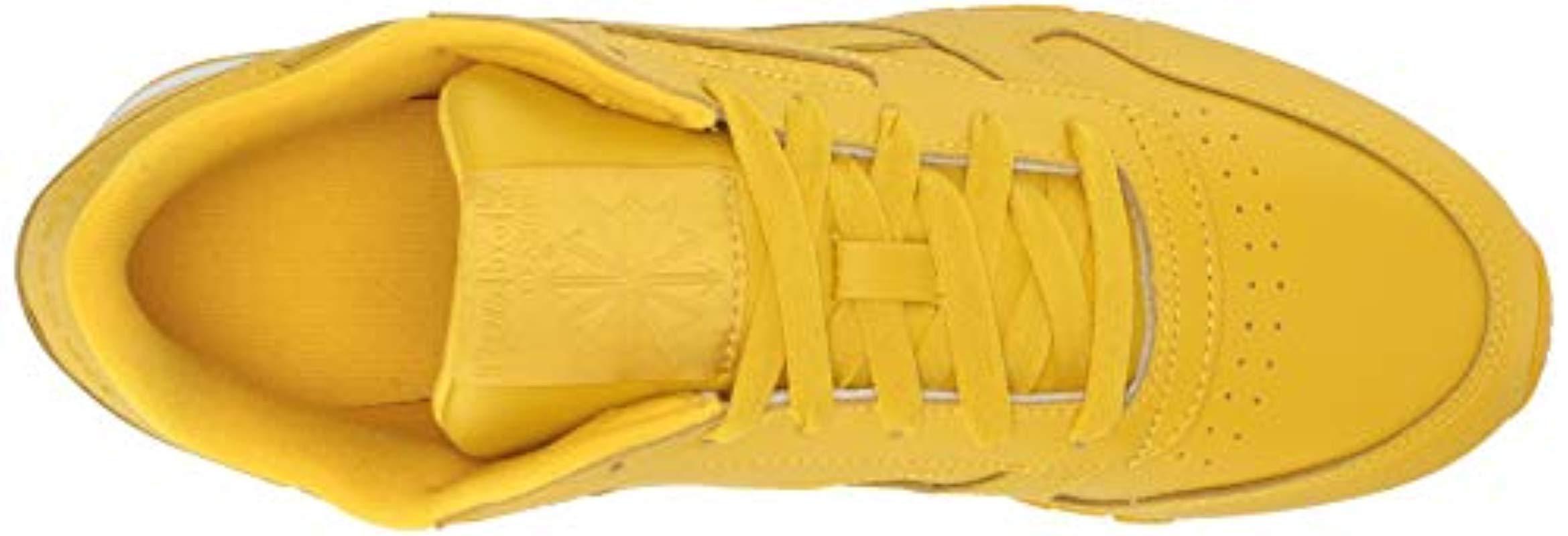 908006106b24b Lyst - Reebok Classic Leather Sneaker in Yellow - Save 22%