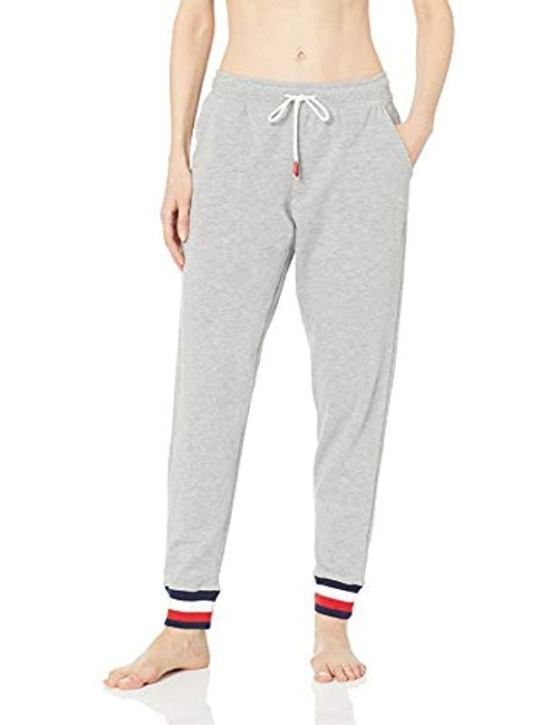 4cbfef98481 Tommy Hilfiger. Women s Gray Logo Jogger Sweatpant Lounge Pant Bottom ...
