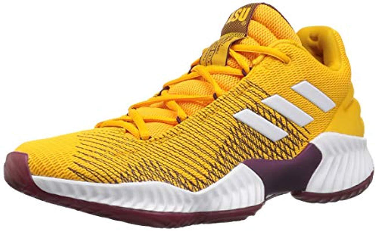 best service 79d71 9ce43 adidas Originals. Mens Yellow Pro Bounce 2018 Low Basketball Shoe