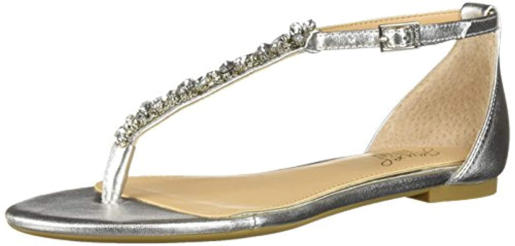 5617e8e74cc Lyst - Badgley Mischka Carrol Ii Sandal in Metallic