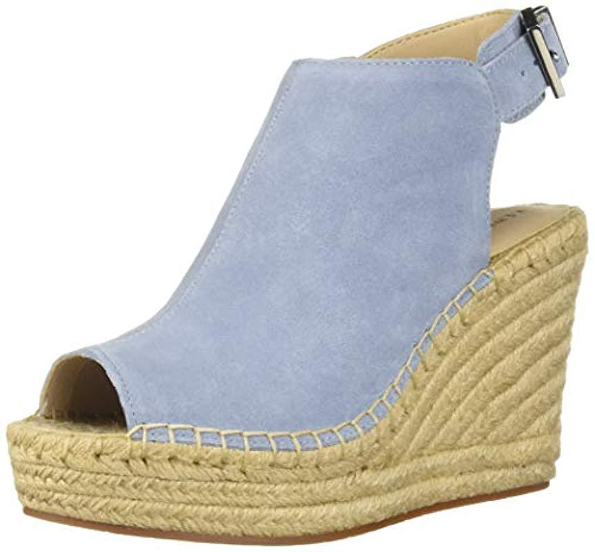 3308d8f356b3 Lyst - Kenneth Cole Olivia Espadrille Wedge Sandal Sandal in Blue