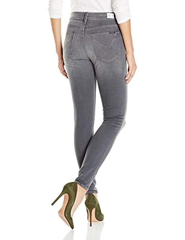 4503af494a4 Lyst - Hudson Jeans Ciara High Rise Exposed Button Super Skinny Jeans in  Gray - Save 48%