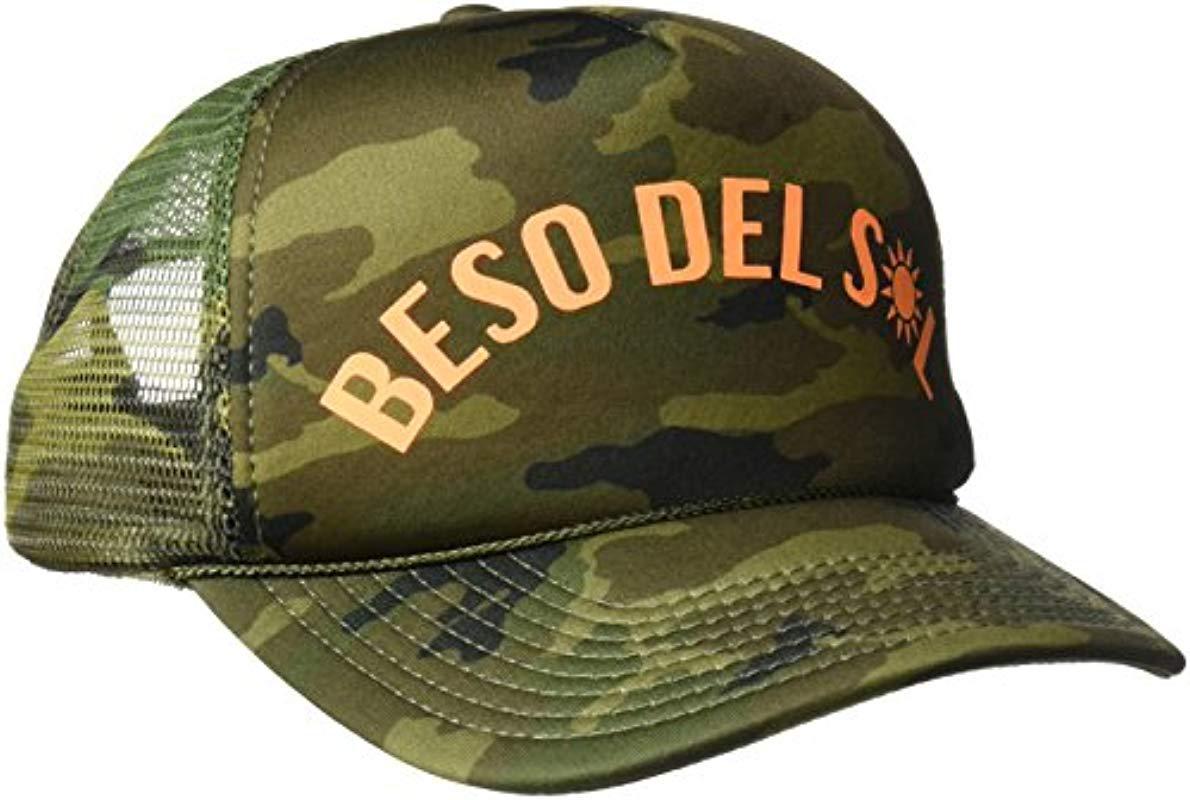 Lyst - O neill Sportswear Sun Kiss Screen Print Trucker Hat in Green 47d5a80463ab