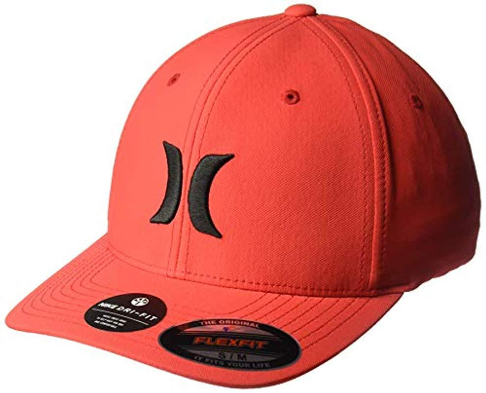 low priced 1d53a bf1e6 Hurley. Men s Red Dri-fit One   Only Flexfit Baseball Cap
