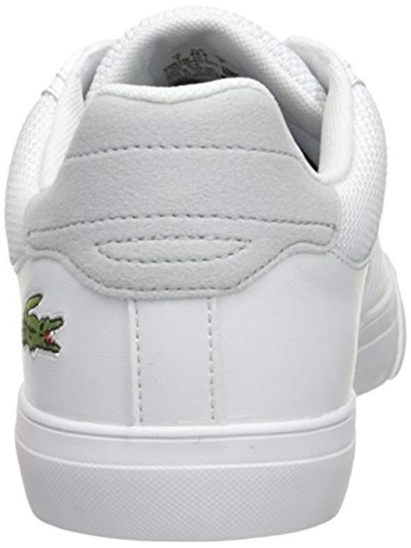 70098e29dce2f4 Lyst - Lacoste Fairlead 117 1 Cam Wht Low in White for Men