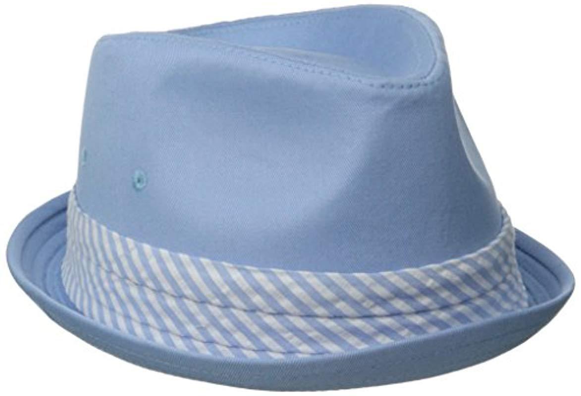 29f41982 Lyst - Original Penguin Ike Twill Fedora W Band in Blue for Men ...